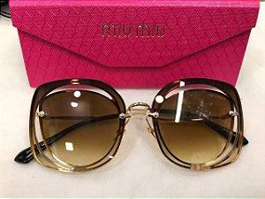 Óculos Miu Miu - MU 54S Bege Corte Vazado