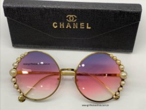 Chanel Redondo Ribbon and Pearls  Perolas - Oculos de Sol