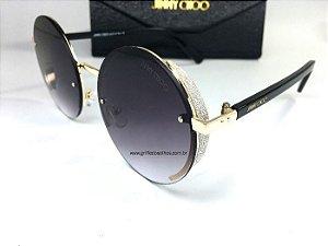 Jimmy Choo - ANDIE/S J7ANH Redondo - Óculos de Sol - Brilho