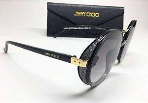 Jimmy Choo - ANDIE/S J7ANH Redondo - Óculos de Sol - Brilho Preto