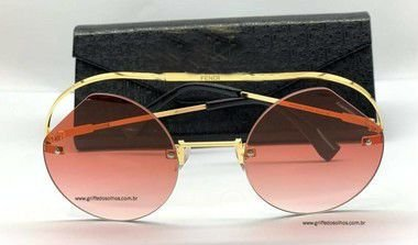 Fendi Ribbons Crystals 0325 Rose  - Oculos de Sol