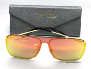 Óculos de Sol  Tom Ford Máscara Única Espelhado Color