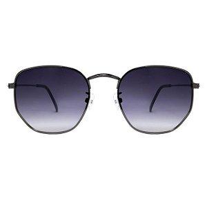 Óculos de Sol Lee Hexagonal Preto /  Degrade