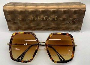 Oculos de Sol Gucci Grande GG 0106S 003  Tartaruga