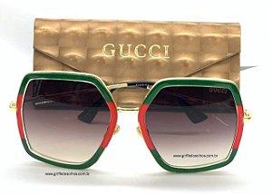 Oculos de Sol Gucci Gucci GG 0106 S- GG0106S /Verde e Vermelho