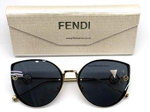 Fendi - FF 0290/S - Preto Dourado - 807-9O/58