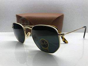 Ray Ban Verde - RB3548-N - Óculos de Sol Hexagonal 99f69ab945