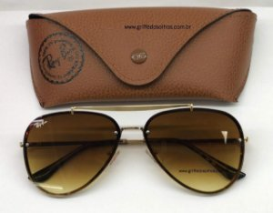 Ray Ban Rb Marrom Metal 3584n 004/13 61 Blaze Aviador