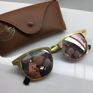 3c90b1da5d8f6 Ray Ban Clubmaster ALUMÍNIO Dourado RB3507 137 40 - Óculos de Sol