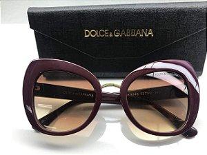 Dolce & Gabbana Bordô  - DG 4319 501/8G - Óculos de Sol - Tamanho 51