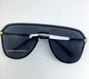 Oculo de Sol Versace Medusa VE 2180 - Lente Preto  (1000/6G)