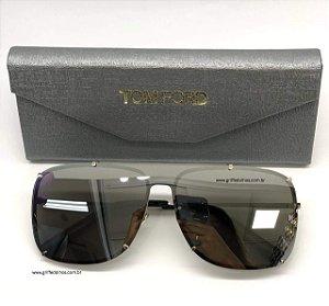 Oculos de Sol Tom Ford -  Mascara Única  Prata