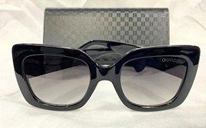 6bfdaa76aa90a Óculos de Sol Redondo Gucci - Bee Abelha   Preto - Griffe dos Olhos ...