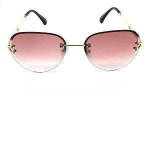 Óculos Aviador Fendi Transparente/  Lente Degradê