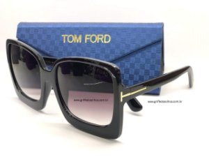 ÓCULOS DE SOL / TOM FORD KATRINE-02 FT 0617/S 01B QUADRADO