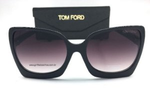 ÓCULOS DE SOL / TOM FORD KATRINE-02 FT 0617/S 01B QUADRADO/  PRETO  LENTE DEGRADE
