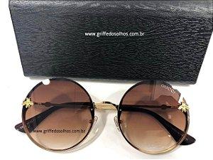 Óculos de Sol Redondo Gucci - Bee Abelha