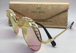 Óculos Chanel Redondo Pérolas  CH4234H Degradê