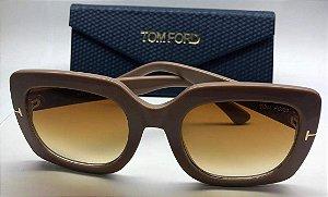 Óculos Feminino Tom Ford  Helene 580 Quadrado Marrom