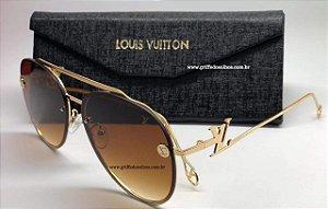 Elegante Óculos De Sol Louis Vuitton Feminino Aviador