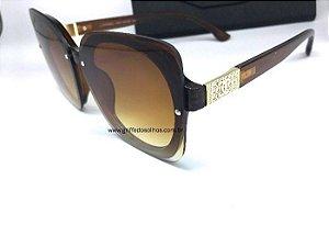 Óculos de Sol Chanel  Quadrado Feminino Marrom
