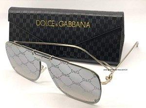 Óculos de Sol D&G Dolce & Gabbana Aviador Espelhado