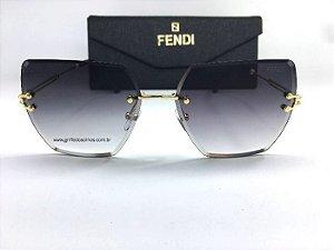 Óculos  de Sol Fendi Transparente Sem Aro - Gradiente