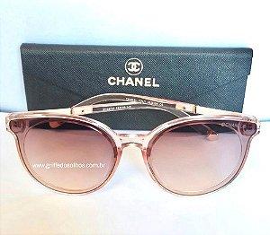 Óculos de Sol Chanel Gatinho Rosa  Tamanho Unico