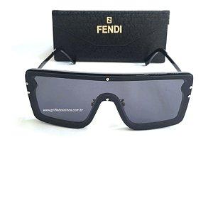 Fendi - Máscara Quadrado Unissex - Oculos de Sol Preto Mascara