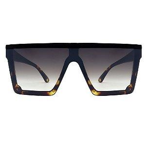 Óculos Furious Quadrado Preto/ Tartaruga Espelhado
