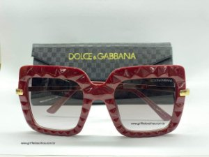 Dolce & Gabbana Quadrado  DG6111 15518G 51 - Bordô /Cinza Gradiente