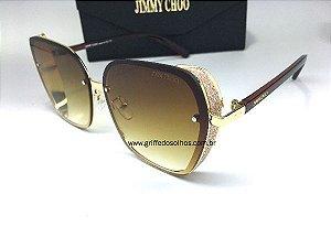 Jimmy Choo  Butterfly Glitter - Oculos de Sol / Brilhoso