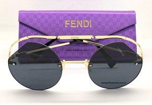 Fendi Ribbons Crystals Preto  325 KB79O - Oculos de Sol