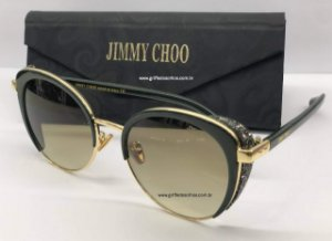 ÓCULOS DE SOL JIMMY CHOO GABBY CAT EYE COM BRILHOS