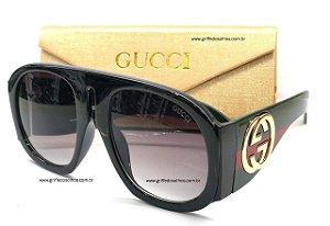 Óculos de Sol Gucci GG0152S 001 Preto Luxuosa