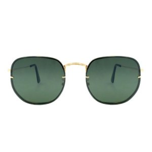 Óculos de Sol Lee Hexagonal / Lente Verde Unissex