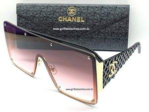 Chanel CH Grande Quadrado Maxi Óculos de Sol