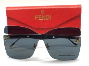 Fendi - Grande  Preto Karligraphy Ff 0399/s  Óculos de sol Fendi - Tendência 2020