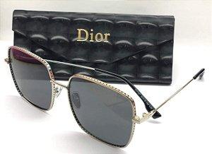 Óculos de Sol Quadrado Dior by Dior 3F J5GA9  - Christian dior  Óculos Cinza