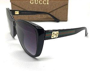 Óculos de Sol Gucci Clássico  Preto Acetato