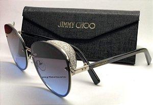 Óculos Jimmy Choo Glitter -   Lente Azul com Brilho