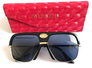 Gucci Preto GG 0478S 001- Oculos de Sol Unissex
