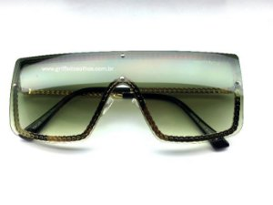 Oculos Quadrado Chanel - Armação Corrente Dourada / Lente DEGRADE