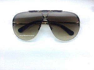 Louis Vuitton LV  Máscara Aviador Marrom  - Óculos de Sol Unissex / Marrom
