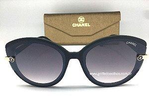 Óculos de Sol Chanel Gatinho Preto