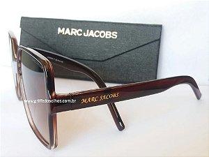Óculos de sol Marc Jacobs  Oversized  Marrom Quadrado