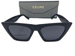 Óculos de Sol Céline Paris Edge Preto Cl41468/S -  Armação Acetato Fosco