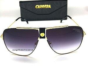 Carrera 1018  Quadrado / Preto Degradê Oculos de Sol Armação Dourada