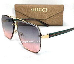 Oculos de Sol  Gucci Metal / Unissex Quadrado