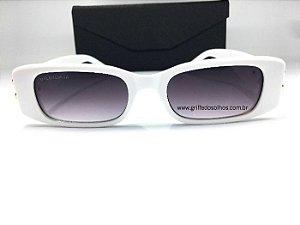 Óculos Retangular Balenciaga Dynasty 621643 - Branca